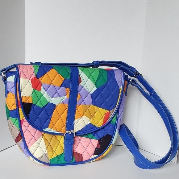Vera Bradley Handbags - Vera Bradley Slim Saddle Crossbody Bag